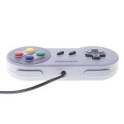 Manette Compatible Mini Super NES avec câble de 3 mètres